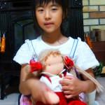 お人形大好き! 可愛がっています