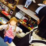 ウォルドルフ人形の同窓会 藤田紀子作品展 準備中