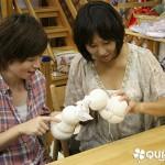 8月のウォルドルフ人形教室 1日目!