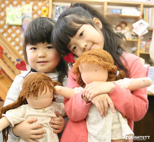 手作りのお人形 ウォルドルフ人形