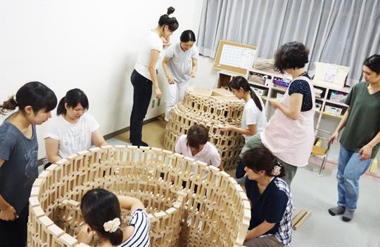 未来を作る力を育てる積木遊び