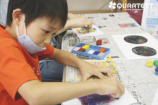 200829 ひっかき絵体験