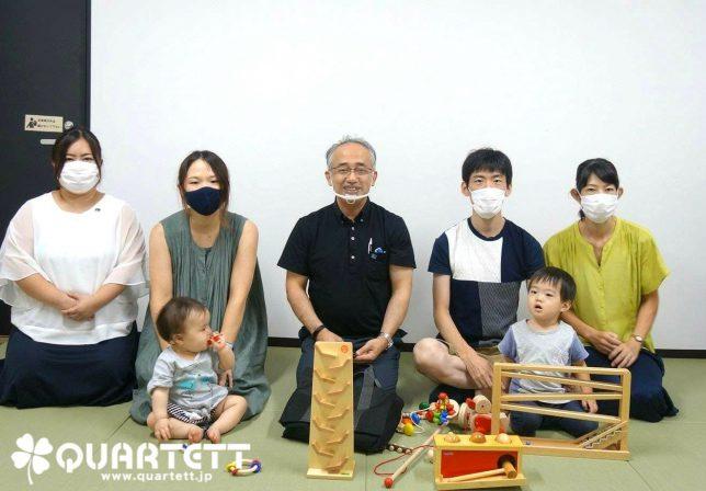 6ヵ月から絵本、おもちゃ、わらべうたで生きる力を育てるカルテット幼児教室